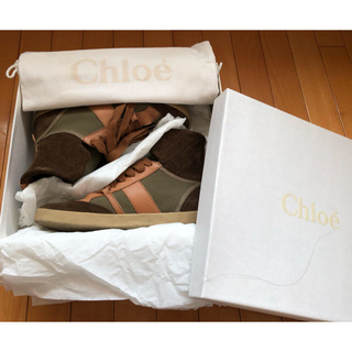 クロエ(Chloe)の【美品】Chloe クロエ スニーカー 36 1/2(スニーカー)