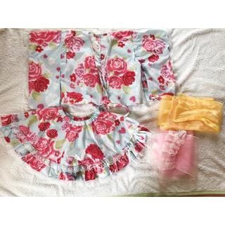 ユメテンボウ(夢展望)の浴衣ドレス 110センチ 女の子浴衣(甚平/浴衣)