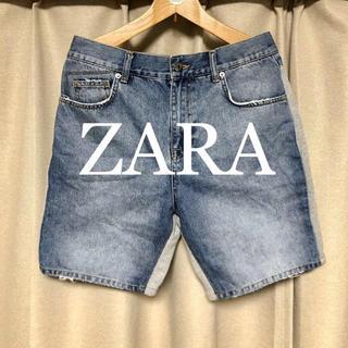 ザラ(ZARA)のZARA デニム×スウェット切り替えパンツ! (ショートパンツ)