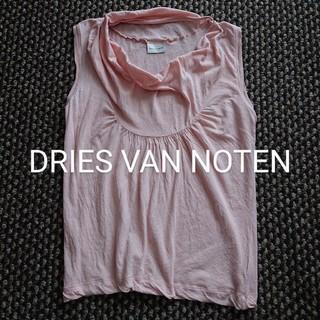 ドリスヴァンノッテン(DRIES VAN NOTEN)のDRIES VAN NOTEN デザインノースリーブ Tシャツ カットソー(Tシャツ(半袖/袖なし))