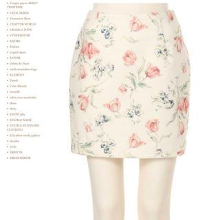 MERCURYDUO - 白チューリップ柄タイトスカート