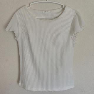 ミーア(MIIA)のMIIA フレア袖ノースリーブ リブTシャツ(Tシャツ(半袖/袖なし))
