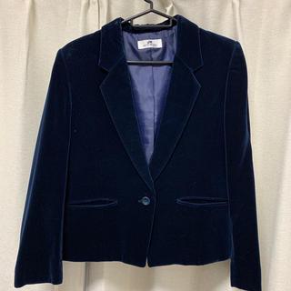 ヴィヴィアンウエストウッド(Vivienne Westwood)のネイビー  紺色 青 ベロアジャケット ベロアテーラードジャケット(テーラードジャケット)