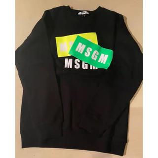 MSGM - MSGM 最新 ボックスロゴトレーナー/スウェット 14y メンズ ユニセックス