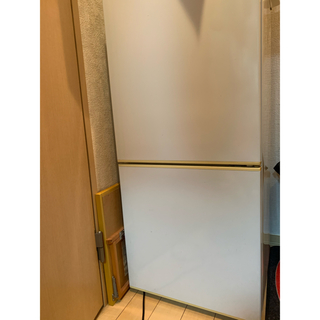 ムジルシリョウヒン(MUJI (無印良品))の無印良品 2ドア冷蔵庫 中古 8年使用(冷蔵庫)