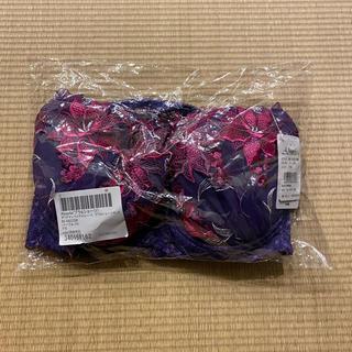 【新品未開封】Absorle ブラ&ショーツセット パープル F75  Lサイズ(ブラ&ショーツセット)