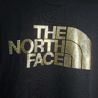 ザノースフェイス(THE NORTH FACE)のノースフェイス 【美品】【稀少】ゴールド ロゴ 長袖 Tシャツ ロンT 黒 L(Tシャツ(長袖/七分))