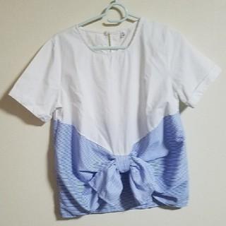 レディースストライプのトップス(シャツ/ブラウス(半袖/袖なし))