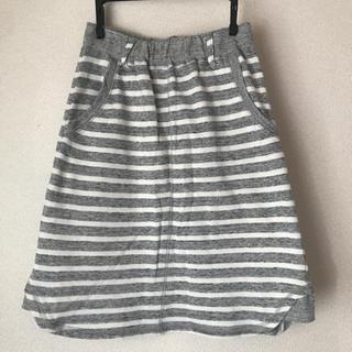 シンプリシテェ(Simplicite)のボーダースウェットスカート(ひざ丈スカート)