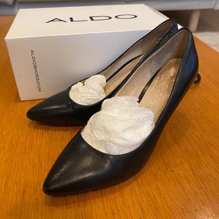 アルド(ALDO)のALDO アルド 黒パンプス 24cm(ハイヒール/パンプス)