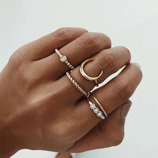 シールームリン(SeaRoomlynn)の5個入り♡可愛い ネイティヴ リング セット ファランジリング 指輪(リング(指輪))