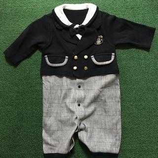 ニシマツヤ(西松屋)の2ways セレモニーロンパース 50~70size 長袖 男の子 カバーオール(セレモニードレス/スーツ)
