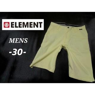 エレメント(ELEMENT)のメンズ30 ☆ELEMENT☆ ショートパンツ 薄黄色(ショートパンツ)