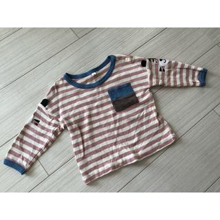 シマムラ(しまむら)のしまむら ボーダー 長袖Tシャツ 80センチ(Tシャツ)