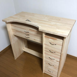彫金机、作業机、彫金、机 ワイドタイプ パイン材(学習机)