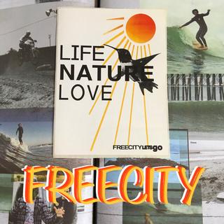ロンハーマン(Ron Herman)のfreecityフリーシティーUS限定ライフネーチャーラブステッカー sun(サーフィン)
