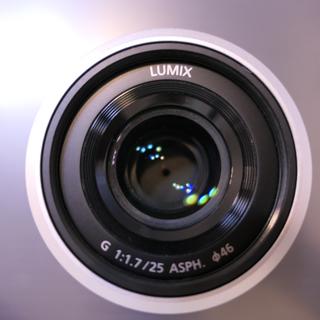 パナソニック(Panasonic)のルミックス G 25mm/ F1.7 ASPH. シルバー H-H025 単焦点(レンズ(単焦点))