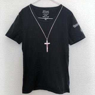 イサムカタヤマバックラッシュ(ISAMUKATAYAMA BACKLASH)のBACKLASH x Roen Tシャツ 黒(Tシャツ/カットソー(半袖/袖なし))