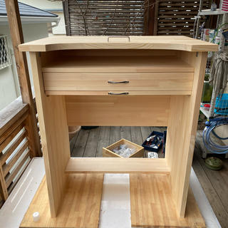 彫金机、作業机、彫金、机 パイン材(学習机)