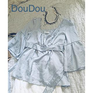 ドゥドゥ(DouDou)の❣️キラキラ光沢が綺麗なDouDou ブラウス❣️(シャツ/ブラウス(長袖/七分))