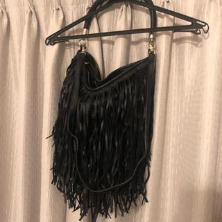 エイチアンドエム(H&M)の◆連休セール◆H&M フリンジバッグ  2way ブラック(トートバッグ)