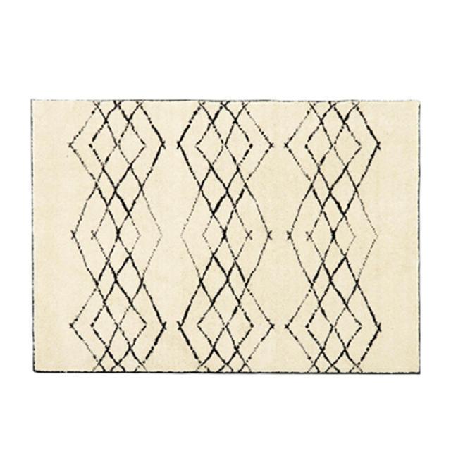 unico(ウニコ)のunico (ウニコ)ラグ HIMAYA(ハイマヤ)タフテッドラグ ブラック インテリア/住まい/日用品のラグ/カーペット/マット(ラグ)の商品写真
