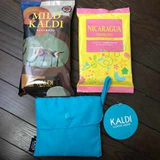 カルディ(KALDI)のカルディ コーヒー豆 エコバッグ KALDI(コーヒー)