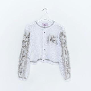 ウォール(WALL)のrurumu: 縷縷夢兎 butterfly knit CD バタフライ カーデ(カーディガン)