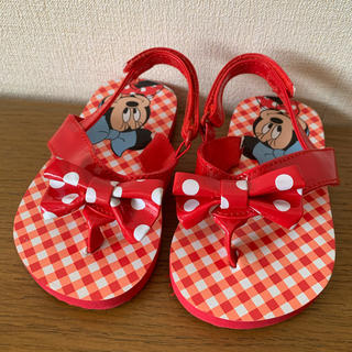 ディズニー(Disney)の女の子 サンダル ミニー Disney 新品 赤 夏 キッズサンダル 子供用(サンダル)