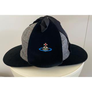ヴィヴィアンウエストウッド(Vivienne Westwood)のVivienne Westwood レア ホームズ キャップ 帽子(キャップ)