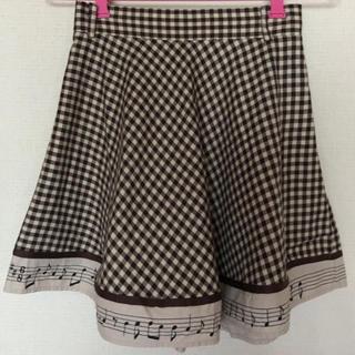 F i.n.t - Fi.n.t チェック 音符 スカート