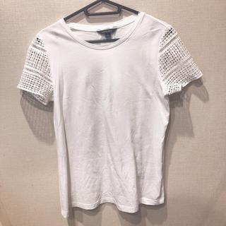 ランズエンド(LANDS'END)の値下げ!白ティシャツ  LANDS' END(Tシャツ(半袖/袖なし))