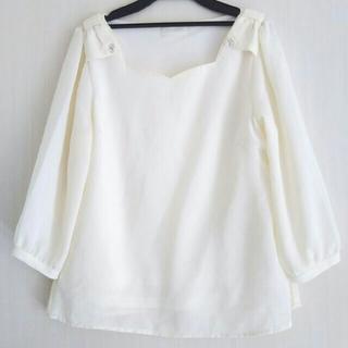 ロディスポット(LODISPOTTO)の肩リボン七分袖ブラウス(シャツ/ブラウス(長袖/七分))