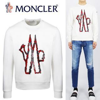 モンクレール(MONCLER)の19 MONCLER プルオーバー ロゴ トレーナー size M(スウェット)