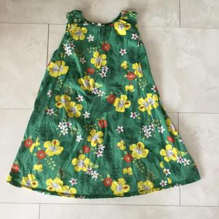 エフオーファクトリー(F.O.Factory)のF.O.インターナショナル緑黄色の花柄南国風ワンピース(ワンピース)