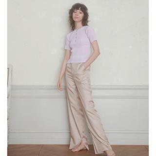 ロザリームーン(Rosary moon)のRosarymoon Chambray Wide Pants pinkbeige(カジュアルパンツ)