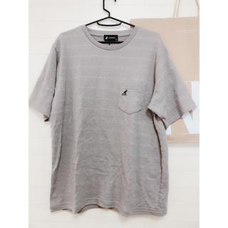 カンゴール(KANGOL)の新品 L/KANGOL カンゴール メッシュTシャツ カーキ 胸刺繍(Tシャツ/カットソー(半袖/袖なし))