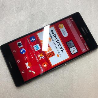エクスペリア(Xperia)のXperia Z3 SOL26 ブラック ジャンク aki65(スマートフォン本体)