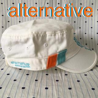 オルタナティブ(ALTERNATIVE)のalternativeオルタネイティブ US限定非売品コットンアーミーキャップ(キャップ)