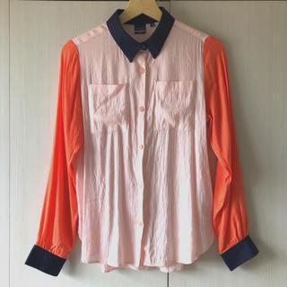 ジーヴィジーヴィ(G.V.G.V.)のUNIQLO×g.v.g.v 美品 3トーンシャツ(シャツ/ブラウス(長袖/七分))