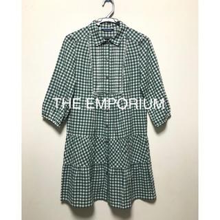 THE EMPORIUM - THE EMPORIUM  チェック柄ワンピース グリーン