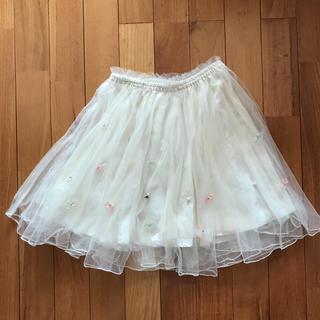 ロディスポット(LODISPOTTO)のロディスポット  オーガンジーリボンビジュー付きチュールスカート(ひざ丈スカート)