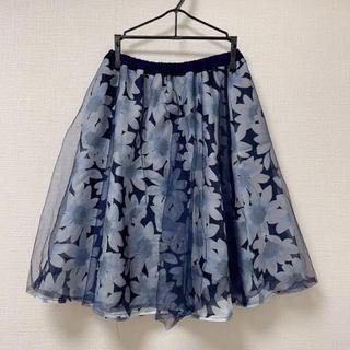 花柄 フレアスカート