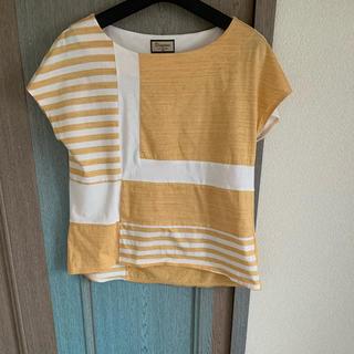 グレースコンチネンタル(GRACE CONTINENTAL)のグレースコンチネンタル   ボーダーカットソー ボーダーTシャツ 36(Tシャツ/カットソー(半袖/袖なし))