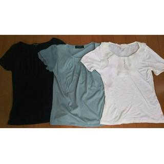 エフデ(ef-de)の婦人Tシャツブラウス3枚セット(Tシャツ(半袖/袖なし))