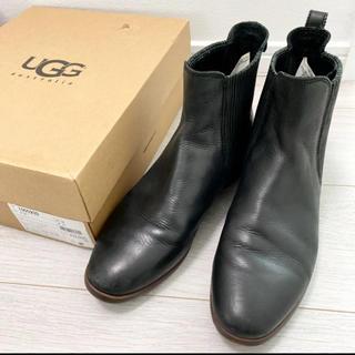 UGG - 美品!UGG アグ 25.0 ブラック ショートブーツ モコモコ