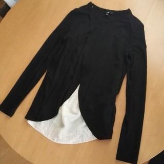 ハイク(HYKE)のgreen ロンT ブラック 黒 hyke ハイク uniqlo u 好きな方(Tシャツ(長袖/七分))