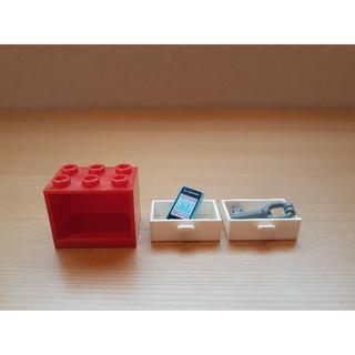 レゴ(Lego)のレゴ LEGO●コンテナ/食器棚/引き出し棚 スマホ カギ/キー 3点セット●ば(その他)