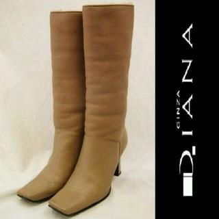 ダイアナ(DIANA)のダイアナ銀座 スクエアロングブーツ(ブーツ)