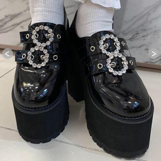バブルス(Bubbles)のダブルバックル厚底シューズ(ローファー/革靴)